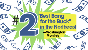 """Baruch ranks #2 in 《CA88亚洲第一平台》's """"Best Bang for the Buck"""" list for the Northeast"""