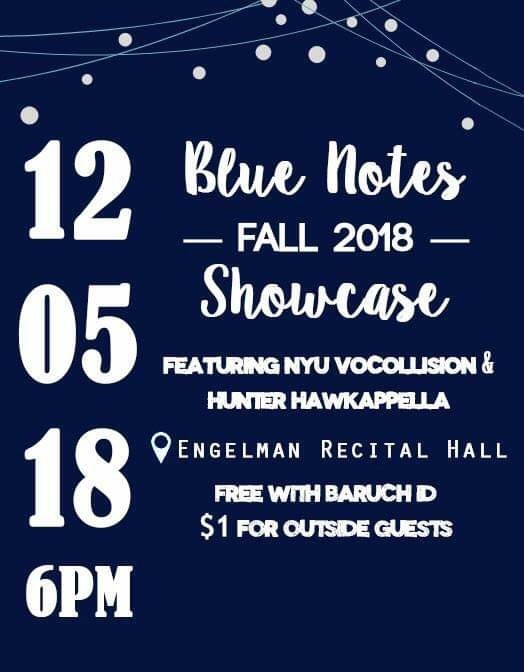 Baruch Blue Notes 2018 Showcase