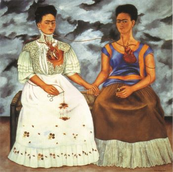 Two Fridas by Frida Kahlo, a double self-portrait