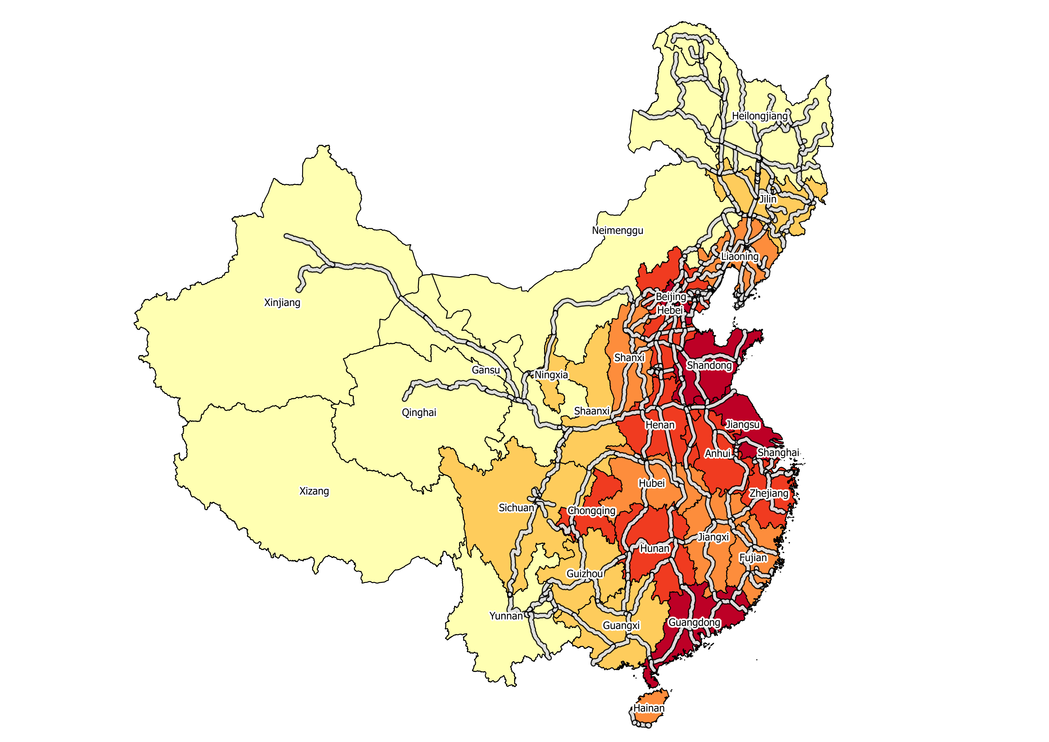 China Sample Map