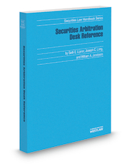 Book jacket for Securities Arbitration Desk Reference
