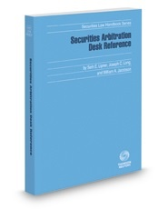 Book jacket for Securities Arbitration Desk Reference 2012-2013