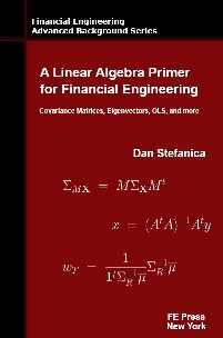 Book jacket for A Linear Algebra Primer for Financial Engineering