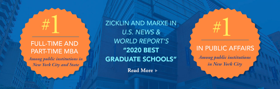 Zicklin and Marxe in US News & World Report's 2020 Best Graduate Schools