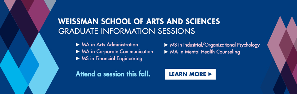Weissman School of Arts and Sciences Graduate Information Sessions