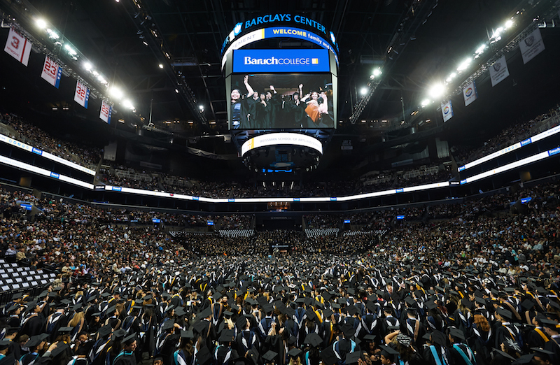 Baruch College 2015 Commencement at the Barclays Center