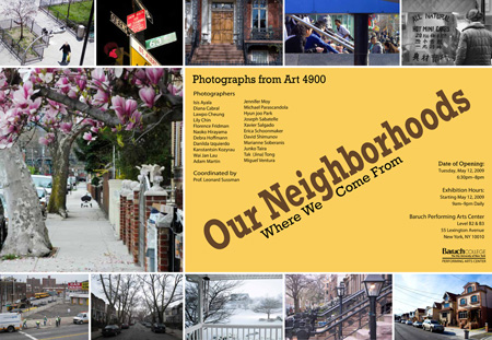 Our Neighborhood: Where We Come From, Photos from Art 4900