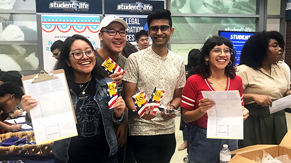 Baruch College National Voter Registration Day