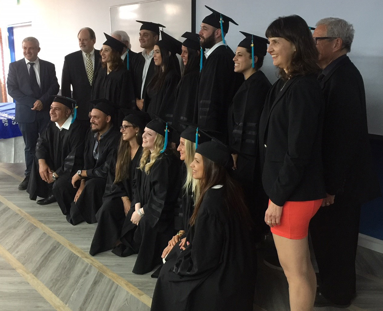 Baruch College celebrates the graduation of the inaugural class of a dual degree business program that the Zicklin School of Business launched with Israel's College of Management
