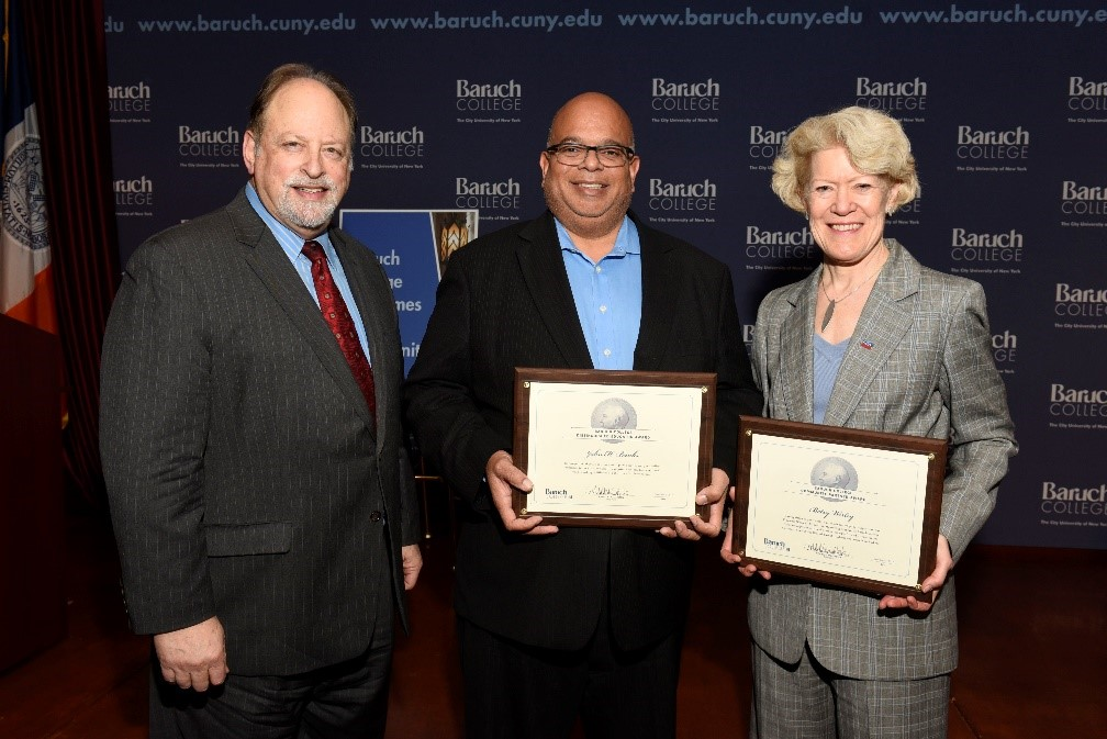 Baruch President Mitchel Wallerstein Honors John Banks and Betsy Werley