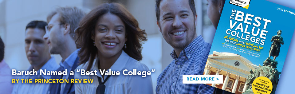 Baruch Named a Best Value College