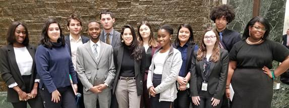 12 students from the Marxe School of Public and International Affairs are NY State Assembly and NY State Senate interns during the spring semester