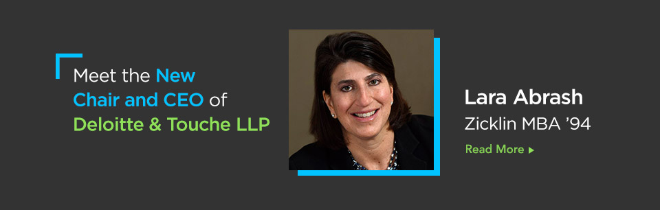 Meet the New Chair and CEO of Deloitte & Touche LLP Lara Abrash Zicklin MBA '94