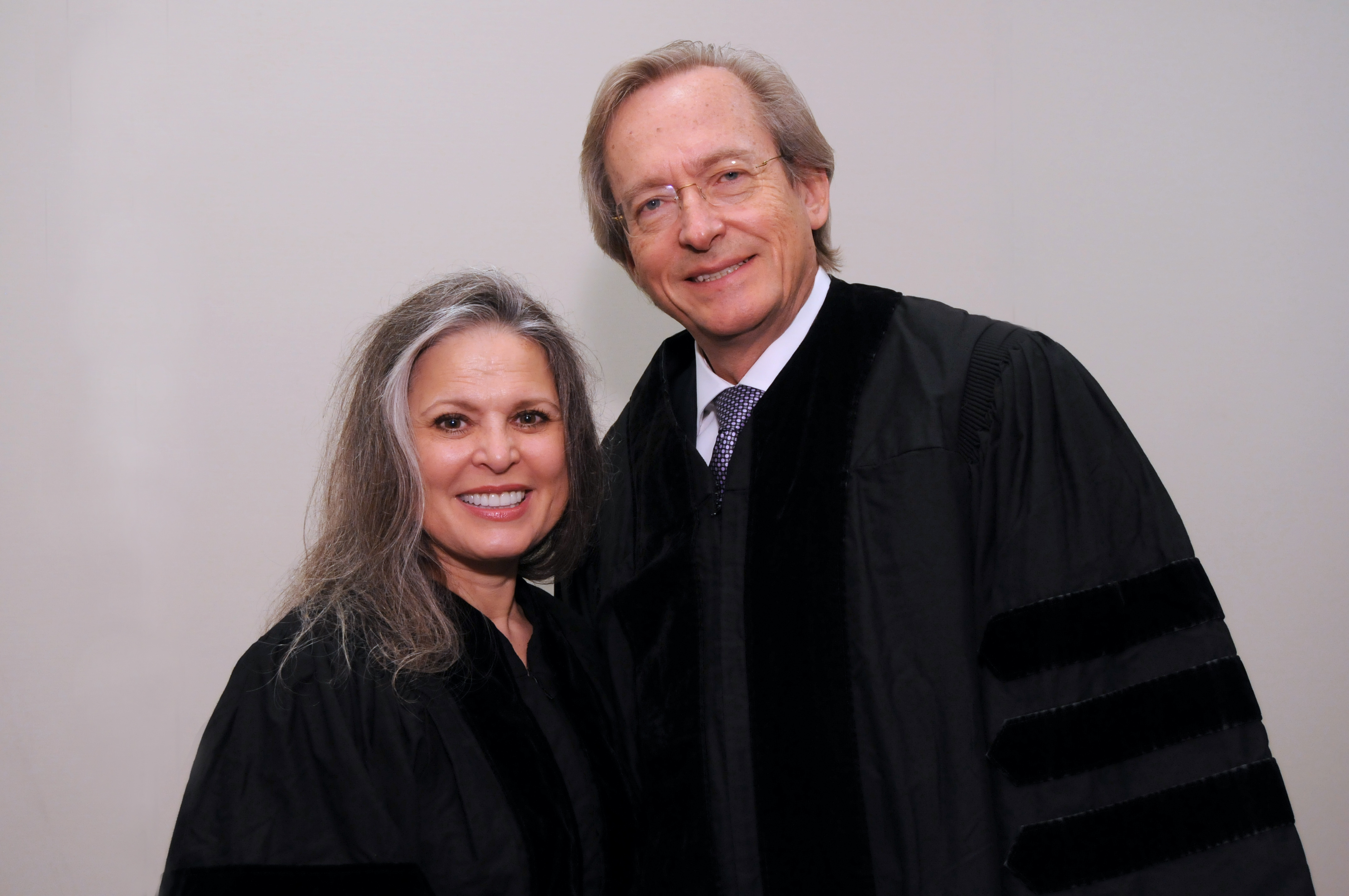 Honorary degree recipients Ruth Ann Harnisch and Bill Harnisch