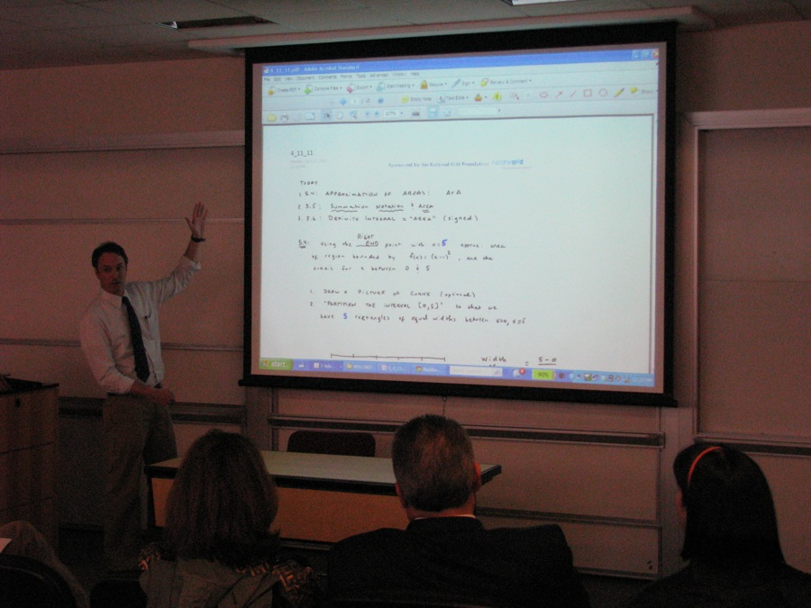 Professor Peter Gregory of Baruch College's Mathematics Department showcases mathematics curriculum