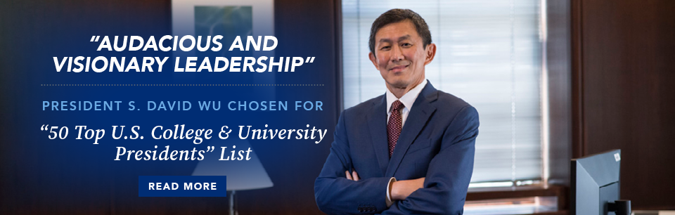President S. David Wu chosen for Top U.S. College & University Presidents List