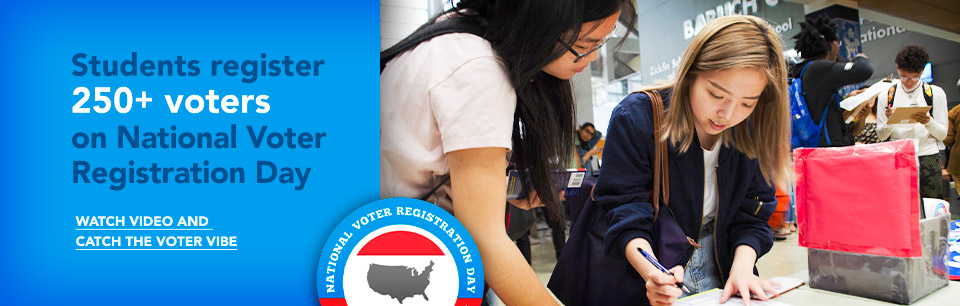 Baruch Students Register 250+ Voters on National Voter Registration Day. Read more and watch the video.