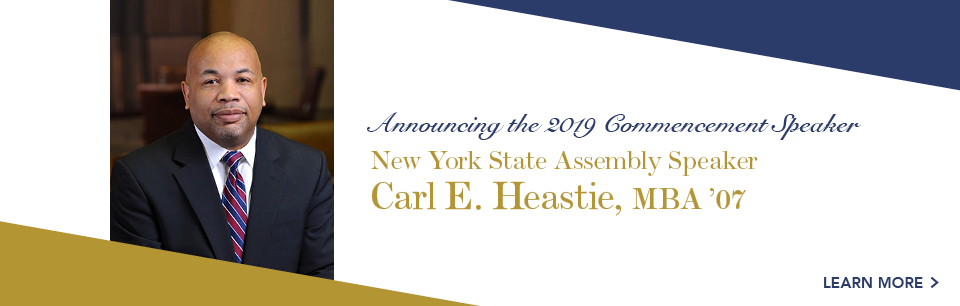 New York State Assembly Speaker Hon. Carl E. Heastie MBA to speak at Baruch College Commencement.