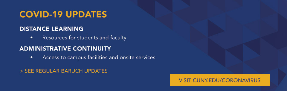 COVID 19 Updates: Distance Learning Resources for studetns and Faculty. Administrative Continuity Access to Campus facilities and onsite services.