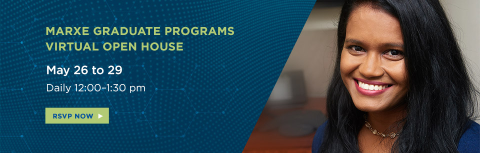 Marxe Virtual Open House Week. May 26-29. Learn More.
