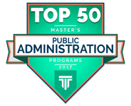 Top 50 Master's of Public Admininstration Ranking