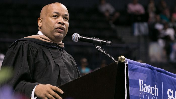 Carl E Heastie Speaker of the Ne York State Assembly at 2019 Baruch Commencement