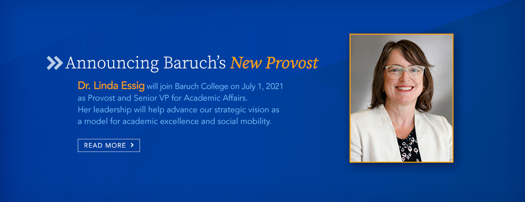 Dr. Essig appointment Provost