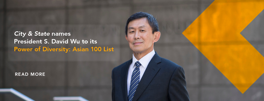 President Wu named to City & State Diversity list