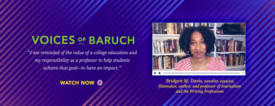 Voices of Baruch Professor Bridgett Davis